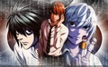 L, LIGHT Y NEAR - death-note wallpaper