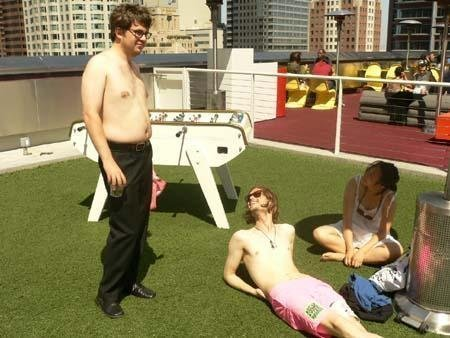 MGG in a rosa bathing suit