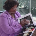 Michael's mom watching book album about MJ :) - michael-jackson photo