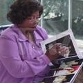 Michael's mom watching book album about MJ :) - michael-jackson photo