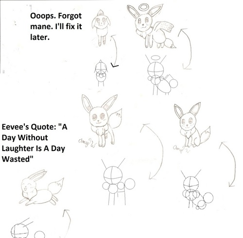 How to draw 5 different Eevee's. READ DESCRIPTION, CREDIT, AND KEYWORDS!!!!