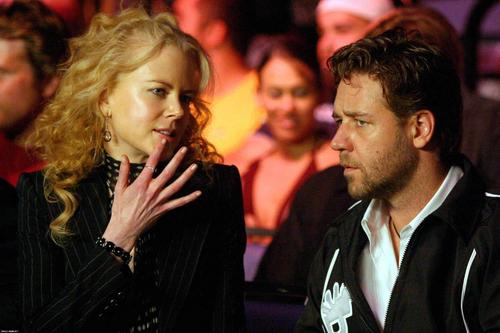 Russell Crowe at boxing match with friend Nicole Kidman - russell-crowe Photo