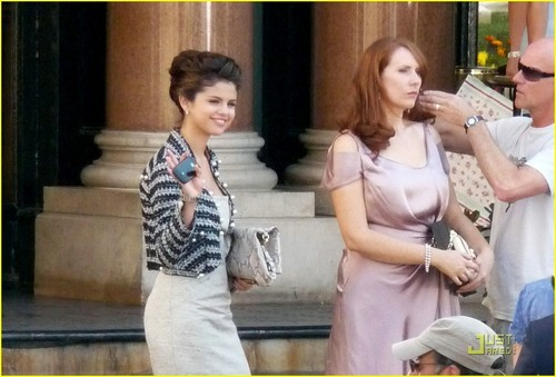 Selena on set of Monte Carlo-July 1st,2010