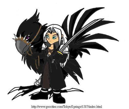 Sephiroth with his Chocobo