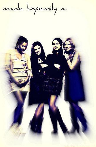 Spencer,Aria,Hanna&Emily
