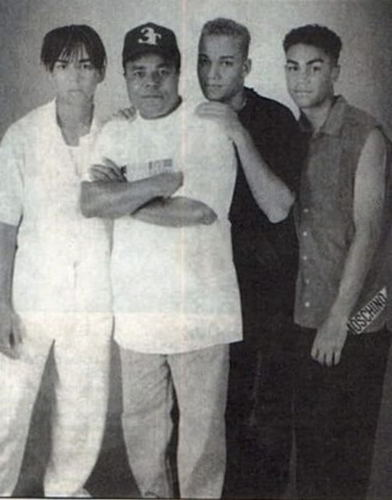 Taj, Taryll, and TJ with their parents