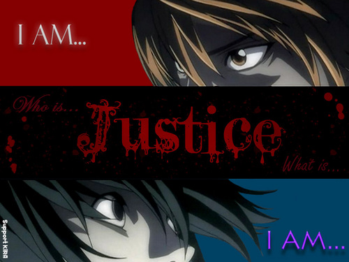 Death Note achtergrond titled YO SOY LA JUSTICIA !!