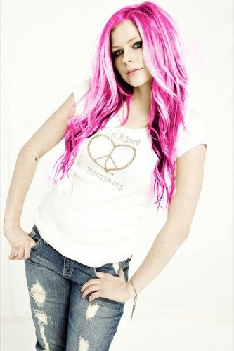 avril photoshop hair