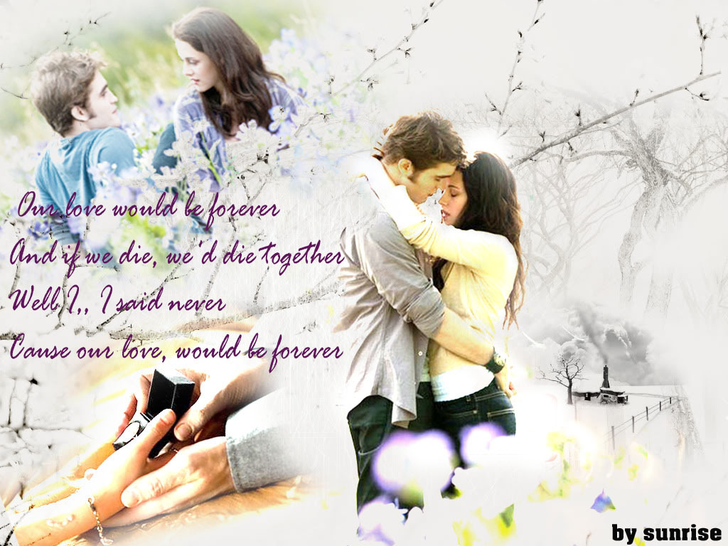 bella ♥ edward - twilight-series wallpaper