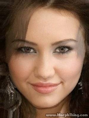 miley cyrus morphed with demi lovato