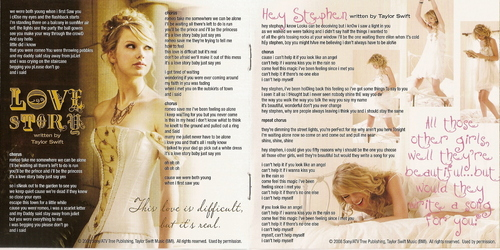 """Fearless (Platinum Edition)"" booklet scans"