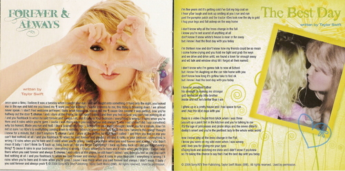 """""""Fearless (Platinum Edition)"""" booklet scans"""