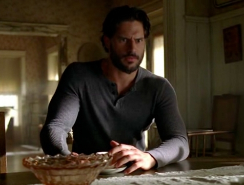 Alcide at Sookies sent par Eric to protect her