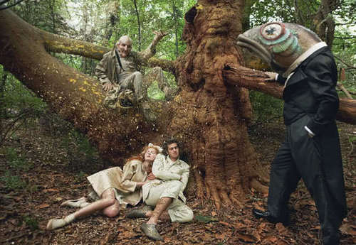 "Andrew Garfield wallpaper entitled Andrew Garfield & Lily Cole - ""VOGUE UK"" 2009"