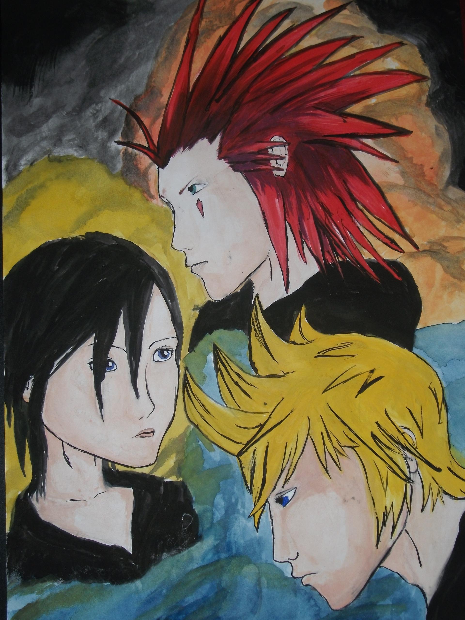 Axel, Roxas and Xion