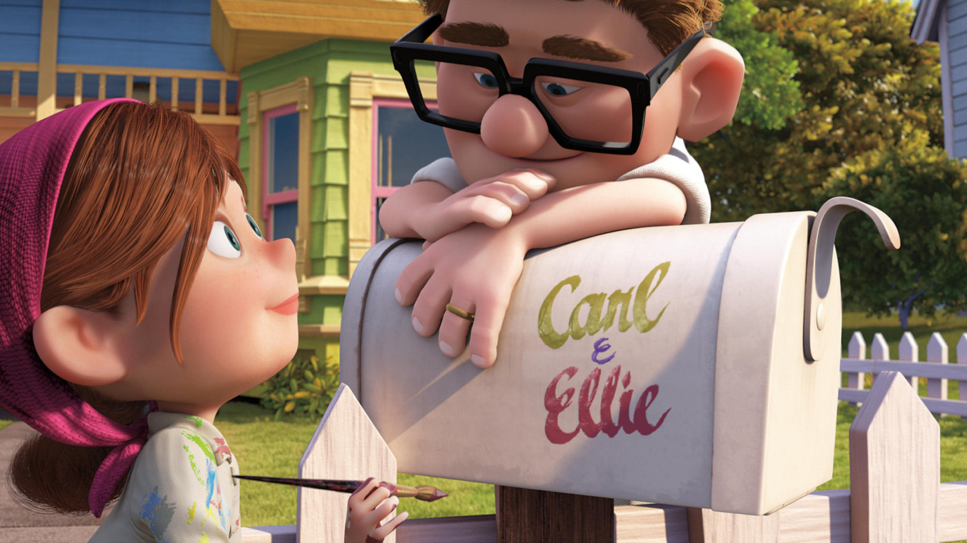 Carl and Ellie and mailbox