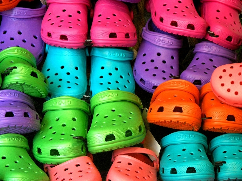 history of crocs footwear essay example Crocs, inc competition crocs has taken a bite out of the footwear industry the company's shoe collection has grown by leaps and bounds from its ubiquitous colorful.