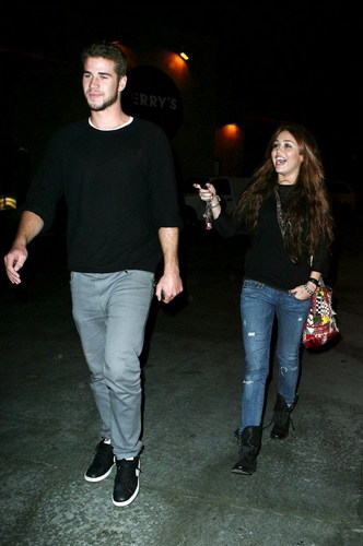 DEMI AND MILEY EAT OUT WITH LIAM