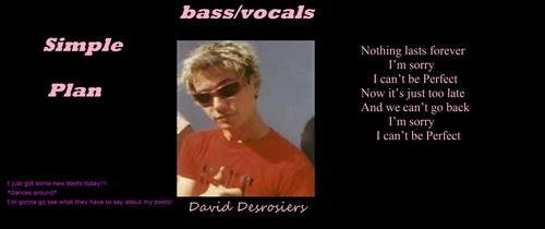 """David wallpaper """"Perfect"""" plus Citazioni :)"""