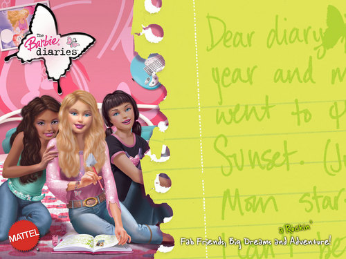 The Barbie Diaries achtergrond titled Dear diary...