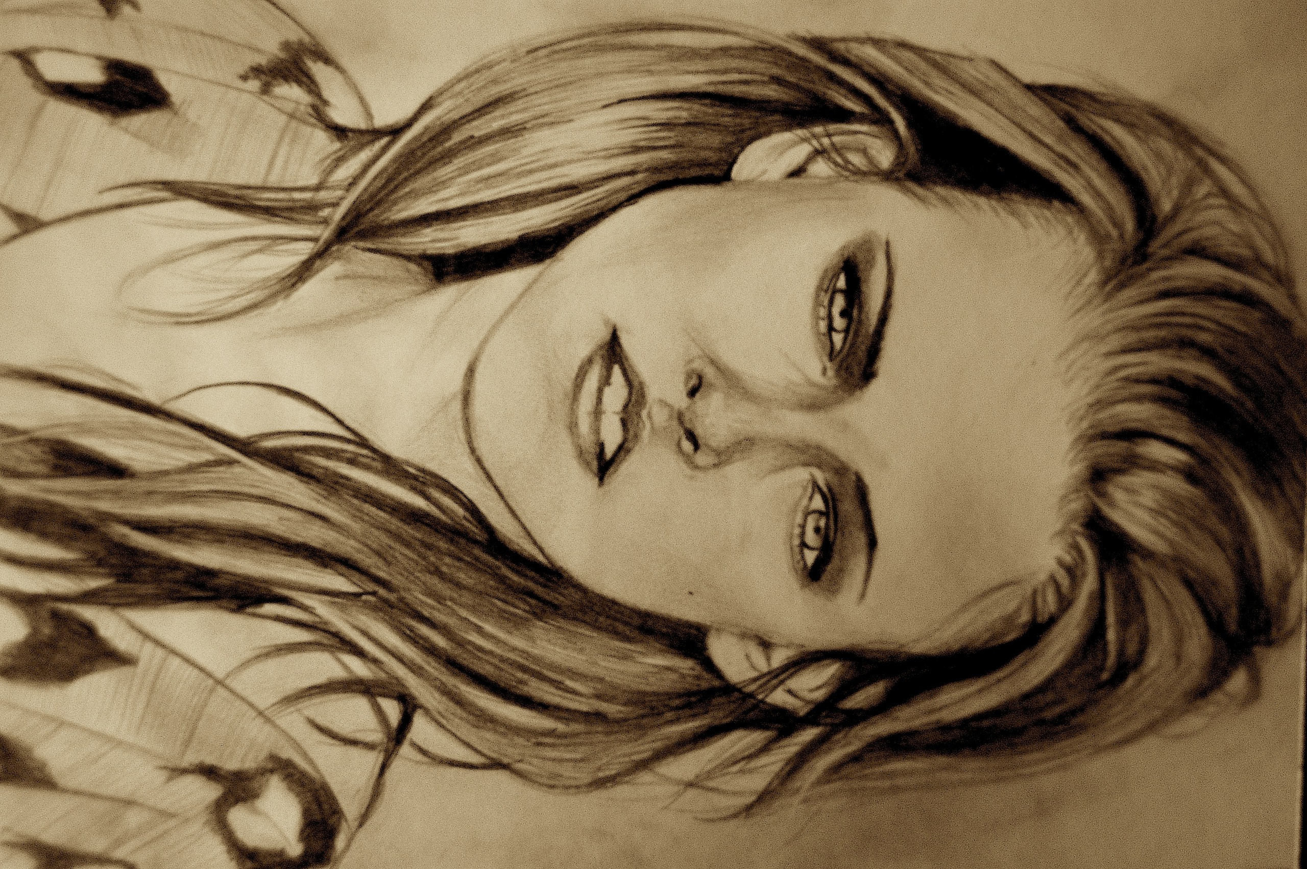 Drawing of Kristen Stewart