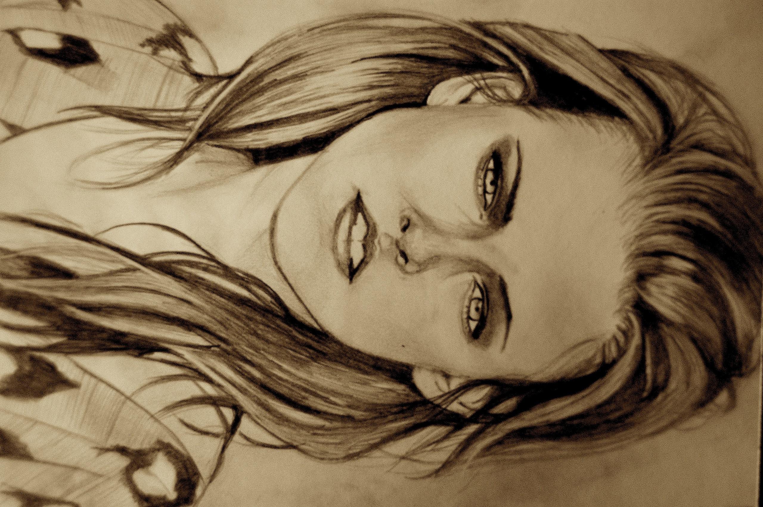 Drawing of Kristen Stewart