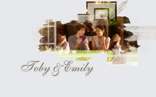 Pretty Little Liars TV Show wallpaper called Emily/Toby <3