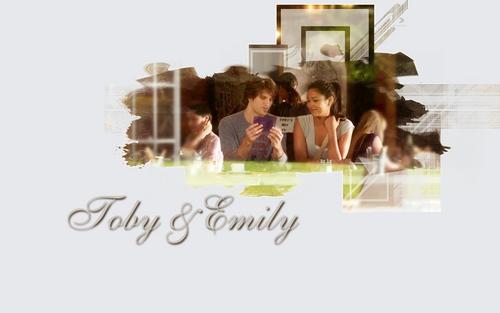 Pretty Little Liars TV Show wallpaper entitled Emily/Toby <3