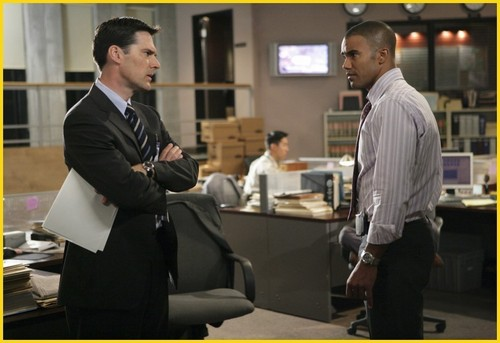 SSA Aaron Hotchner wallpaper titled Hotch & Morgan