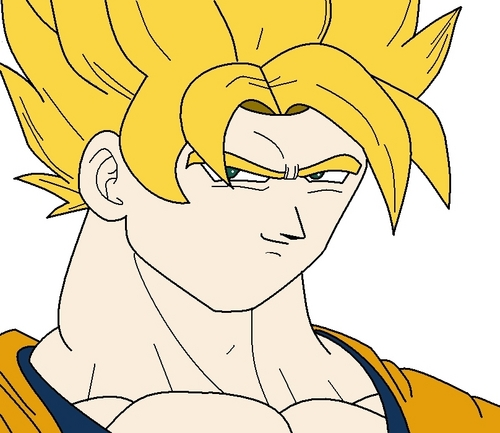 How to draw Goku SSJ in MS Paint Step 4