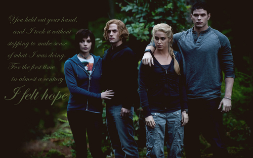Jasper, Alice, Emmett and Rosalie - I felt hope