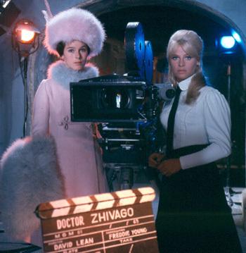 Julie Christie and Geraldine Chaplin