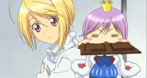 Kiseki with chocolate! :P