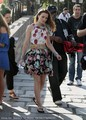 Leigh on set in paris filiming s4 - blair-waldorf-fashion photo