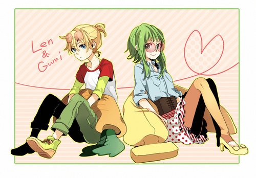 Vocaloids wallpaper titled Len & Gumi