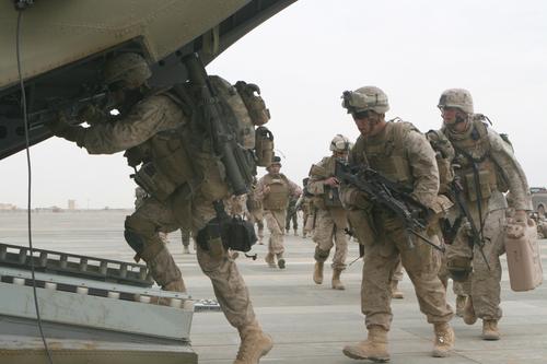 Marines Board CH-47F Chinook