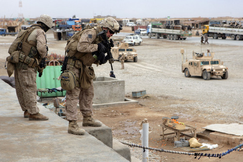 Marines Observe afghan Stores