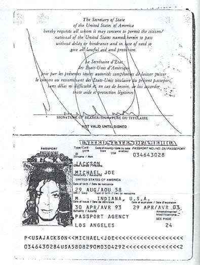 Michael's passport
