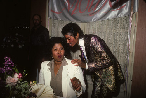 Michael with his mom