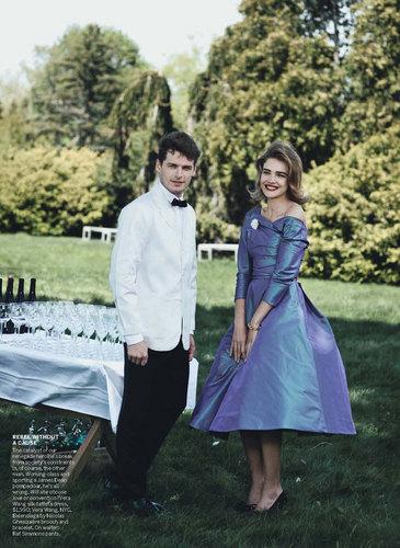Natalia Vodianova & Ewan McGregor door Peter Lindbergh for Vogue US July 2010