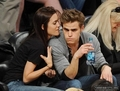 Paul & Torrey @ LA Lakers Game - paul-wesley-and-torrey-devitto photo