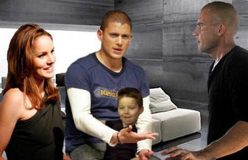 Wentworth Miller Hintergrund entitled Prison Break - Michael, Lincoln, Sara, MJ