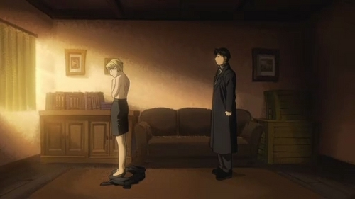 Riza Hawkeye Anime/Manga wallpaper called Riza Hawkeye & Roy mustang - Episode 54 screencaps (FMAB)