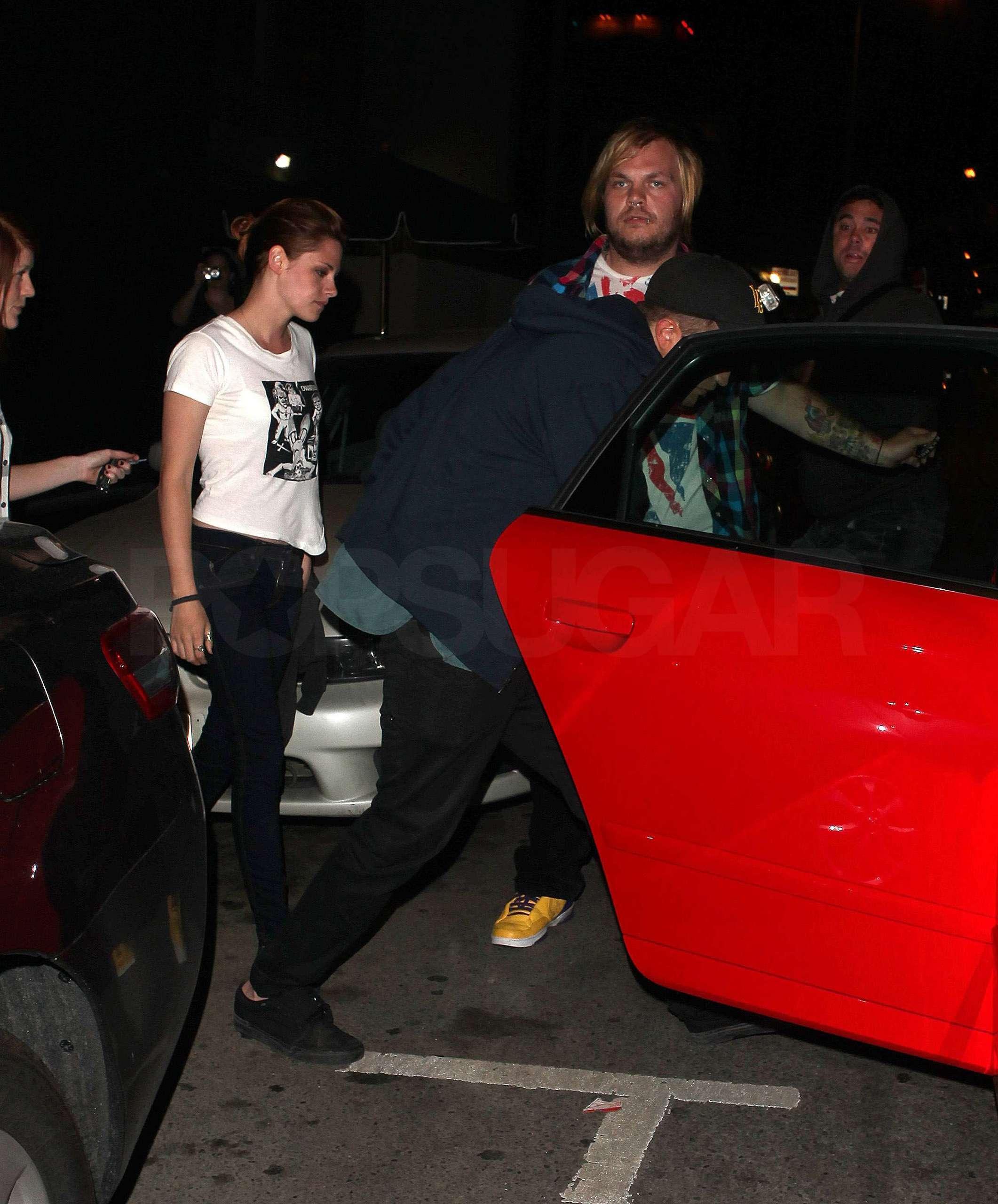 Rob and Kristen leaving Sam's concerto last night