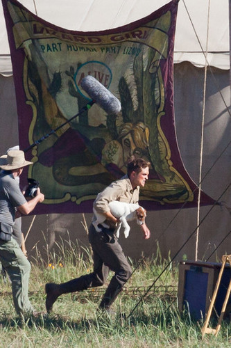 Robert on set of WFE (July 7th)