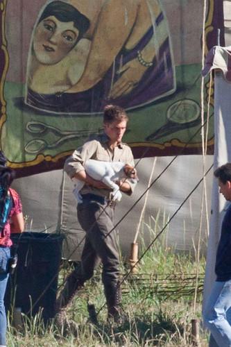 Robert on set of WFE