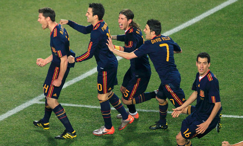 Spain won Paraguay