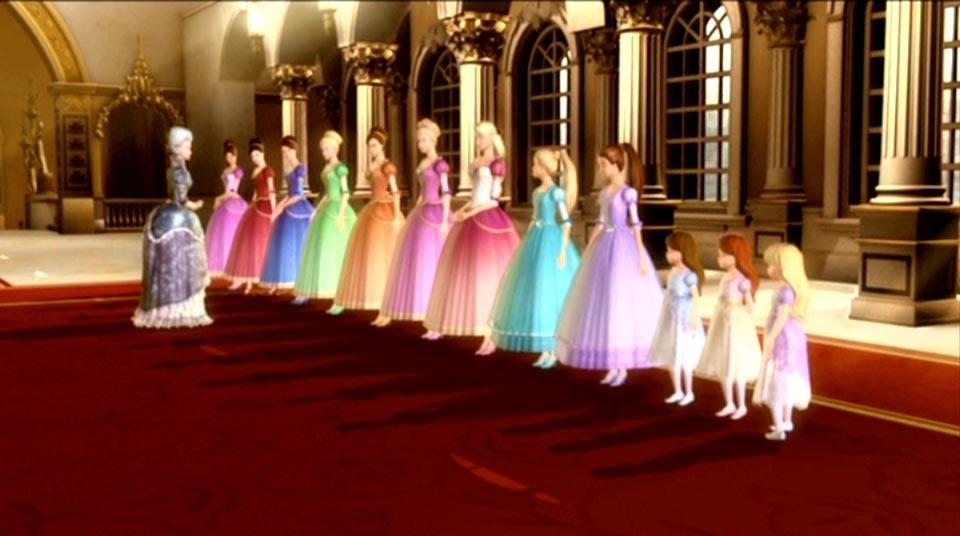Barbie in the 12 Dancing Princesses Together, meet Rowena