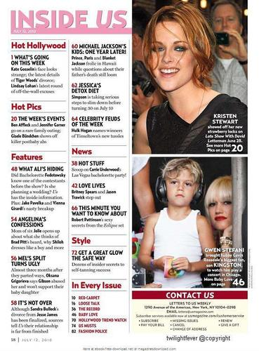 Us Weekly Magazine Scan, 12/07/10