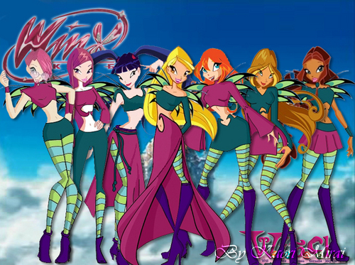 Winx dressed as W.i.t.c.h.